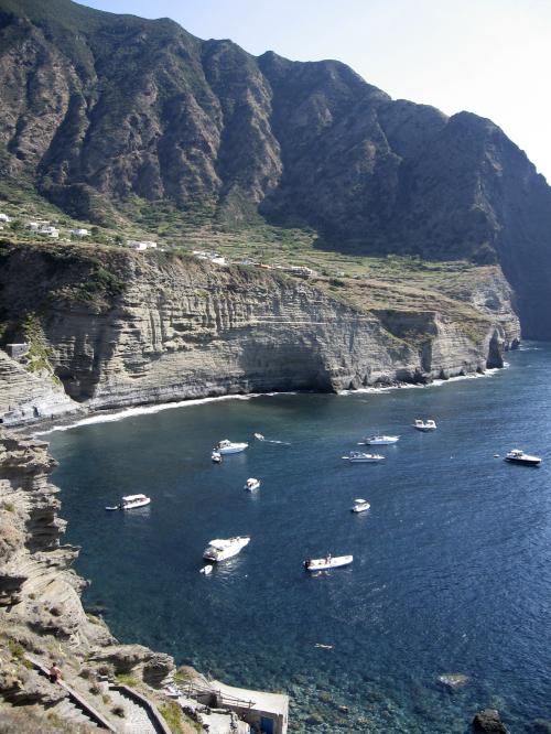 The coastline of Pollara, a hamlet on Salina island, Aeolian Islands, Italy. (AP-Yonhap News)