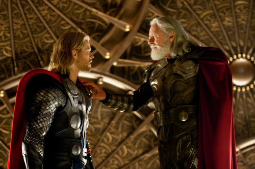"Chris Hemsworth (left) stars as Thor and Anthony Hopkins as Odin in ""Thor,"" from Paramount Pictures and Marvell Entertainment. (Marvel Studios/MCT)"