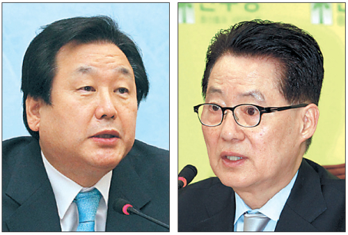(From left) Kim Moo-sung and Park Jie-won