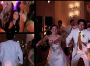 This captured photo shows an MTV-version of wedding video of an American couple. (Youtube)