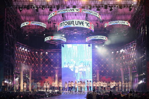 The SM Town Live concert held in Seoul last year. (SM Entertainment)