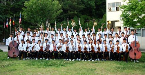 Aloysius Orchestra consists of 60 students of Aloysius Middle School and Aloysius Technical High School, which are affiliated with Busan Boystown. (Busan Boystown)
