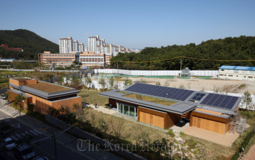 Green Tomorrow eco-friendly model house in Yongin, Gyeonggi Province. (Samsung C&T)