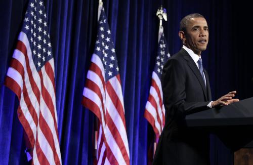 President Barack Obama speaks during a Women's Leadership Forum, Thursday, May 19, 2011, in Washington. (AP-Yonhap News)