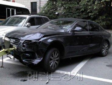 Daesung's Audi sedan (Korea Herald)
