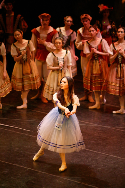 """A scene from Universal Ballet Theater's """"Giselle."""" UBC"""