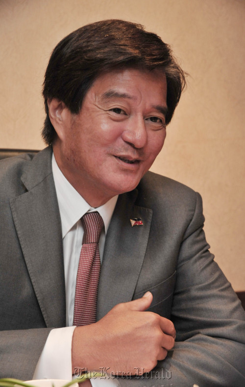 Alberto Aldaba Lim, Secretary of Department of Tourism of the Philippines, speaks during an interview with The Korea Herald. (Chung Hee-cho/The Korea Herald)