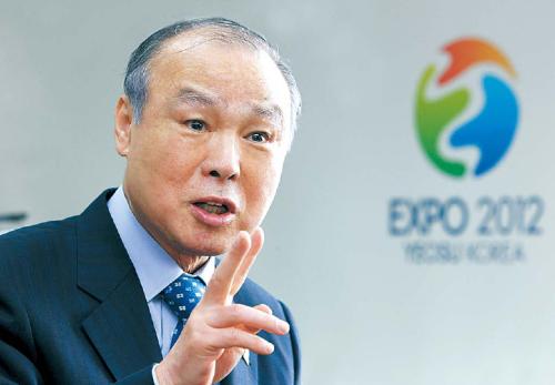 Kang Dong-suk, chairman of Organizing Committee for Expo 2012 Yeosu Korea(Yeosu Expo)