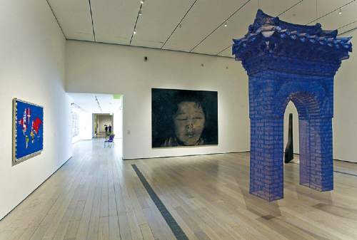 """uh Do Ho's """"Gate"""" is installed at LACMA (2010 Museum Associates/LACMA)"""