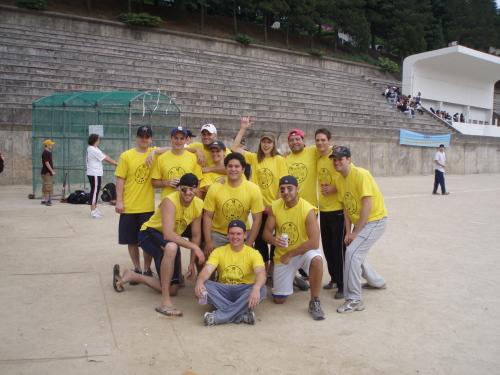 A softball team from a previous match (Michael Spiller)
