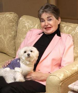 Leona Helmsley and Trouble in 2003. (AP)