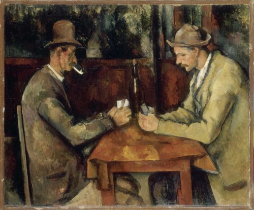 """""""Les Joueurs de Cartes"""" by Paul Cezanne at the exhibition """"Dream and Reality: Masterpieces from Musée d'Orsay"""" (GNC media)"""