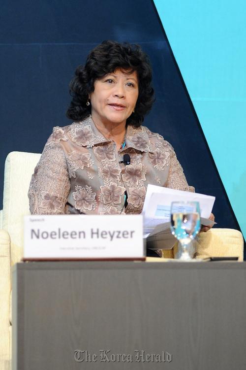 Noeleen Heyzer, executive secretary of UNESCAP. (Park Hae-mook/The Korea Herald)