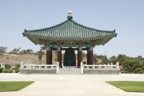 The Korean Bell of Friendship which sits on a hill in Los Angeles, California (Ernest Lee)