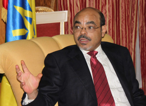 Ethiopia's Prime Minister Meles Zenawi (Yonhap News)