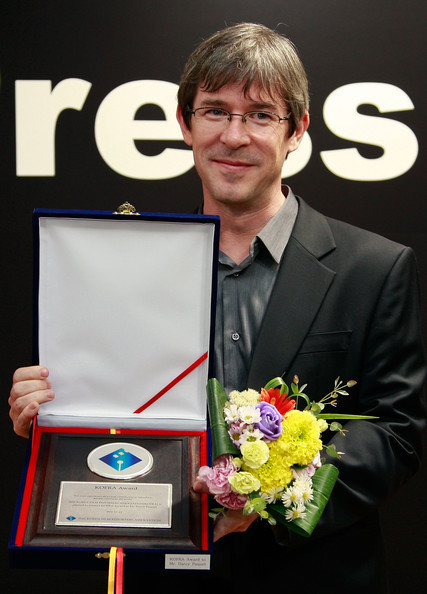 Paquet after receiving the Korea Film Reporters Association Award for contributions in introducing Korean cinema to the world at the 15th Pusan International Film Festival in 2010.(Chung Sung-Jun/Getty Images AsiaPacific)