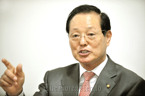 Rep. Cho Jin-hyeong of the Grand National Party talks in a recent interview with The Korea Herald. (Yang Dong-chul/The Korea Herald)
