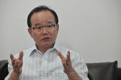 Ahn Chan-il, chief of World Institute for North Korea Studies (Chung Hee-cho/The Korea Herald)