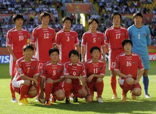 North Korea's national women's soccer team (AFP-Yonhap News)