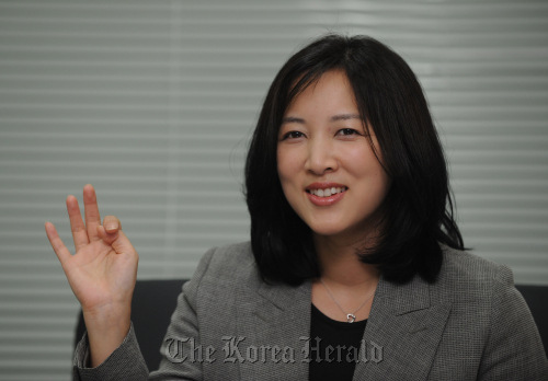 Theresa Rah, the communication director of PyeongChang's 2018 bid committee (Lee Sang-sub/The Korea Herald)