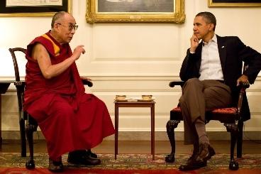 U.S. President Barack Obama meets the Dalai Lama at the White House in Washington, D.C., Saturday. (White House photo)