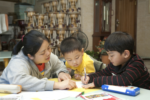 Children with multicultural backgrounds participate in Save the Children's Early Childhood Multilingual Education Program. (Save the Children)
