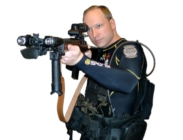This image shows Anders Behring Breivik from a manifesto attributed to him that was discovered Saturday. Breivik is a suspect in a bombing in Oslo and a shooting on a nearby island which occurred on Friday. (AP-Yonhap News)