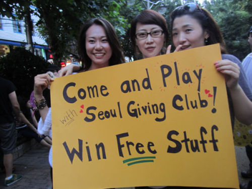 Seoul Giving Club volunteers (from left) Kim Na-yeon, Helen Kim and Kim Mi-young. (Seoul Giving Club)