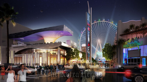 An artist's rendering of the $550 million Linq project in Las Vegas (AP/Caesars Entertainment Corp.)