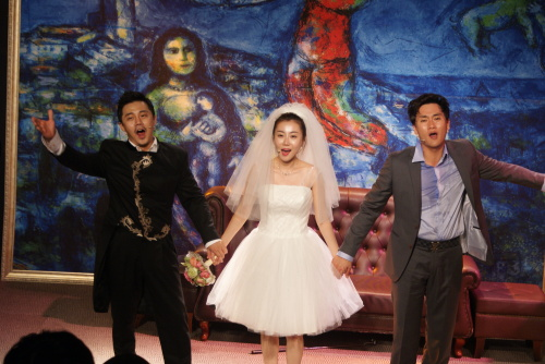 """A scene from musical """"Wedding,"""" the first musical being held at Samilro Warehouse Theater in Myeong-dong, central Seoul, after its re-opening on Aug. 10. (Samilro Warehouse Theater)"""