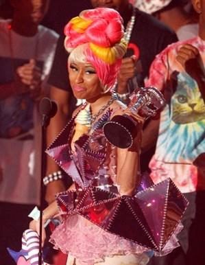 Nicki Minaj accepts the best hip hop video award for