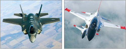 F-35 fighter jet, T-50 supersonic aircraft