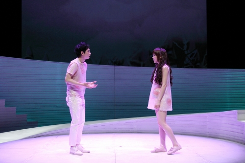 """A scene from the musical """"Falling for Eve."""" (BOM Korea)"""