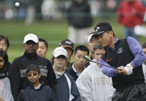 Choi Kyung-ju is one of three Koreans on the international squad for the Presidents Cup. (AP-Yonhap News)