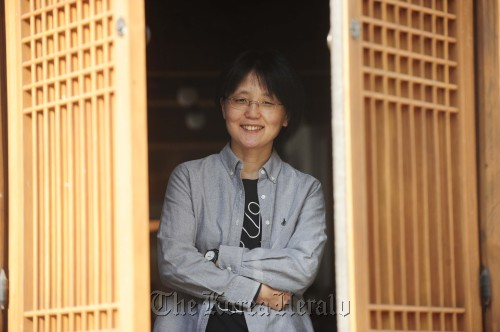 Director Lee Jeong-hyang poses for a photo in Seoul, Thursday. (Park Hae-mook/The Korea Herald)