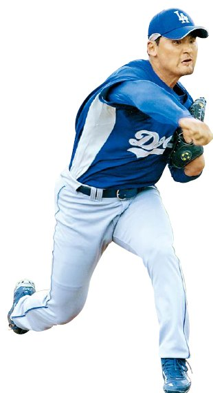 Park Chan-ho's best seasons in the major leagues came with the Los Angeles Dodgers. (File photo)