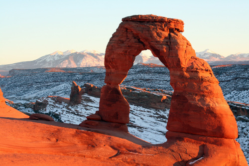 Delicate Arch is one of the most popular sites in Arches National Park in Eastern Utah, but set against snow in winter, it becomes even more stunning. Chicago Tribune/MCT