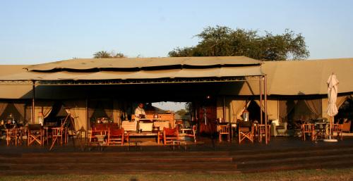 The main tent at Singita Sabora Camp, one of only three lodges in the Singita Grumeti Reserve in the heart of the Serengeti. (MCT)