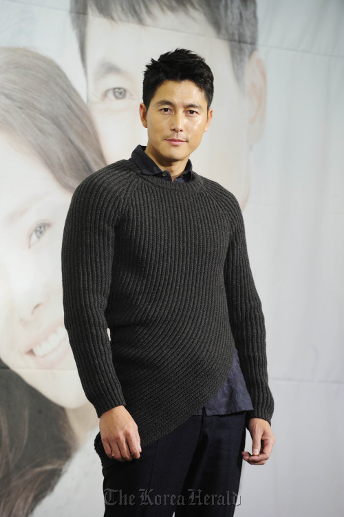 """Actor Jung Woo-sung attends jTBC's """"Padam Padam"""" press conference at the Seoul Palace Hotel in Seoul Wednesday. (Park Hae-mook/The Korea Herald)"""