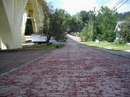 Pasco Drive in the hamlet of Blaine includes highway bricks from 1917-1918 on the historic National Road in Ohio's Belmont County. (MCT)