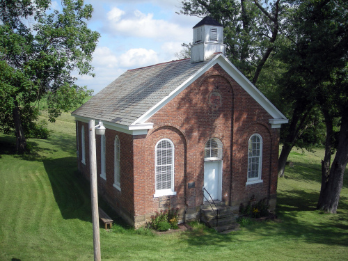 The one-room Great Western Schoolhouse dates to 1870. Owned by Ohio University, it sits next to the old National Road. (MCT)