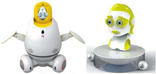KIST's SILBOT (right) and MERO robots (KIST)