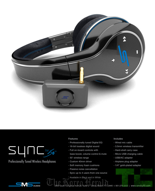 Sleek by 50 Cent Platinum headphones. The trend has been changing from 10 years ago, when the small, white ear buds that came with the iPod were the symbol for listening to music on the go. (Sleek Audio)