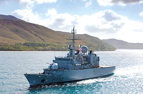 French Navy frigate the Vendemiaire (French Embassy)