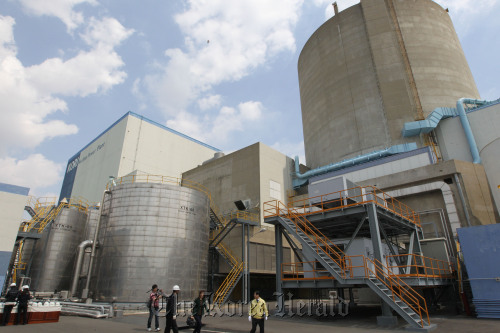 The Gori-1 reactor at a nuclear power complex in Busan. (Yonhap News)