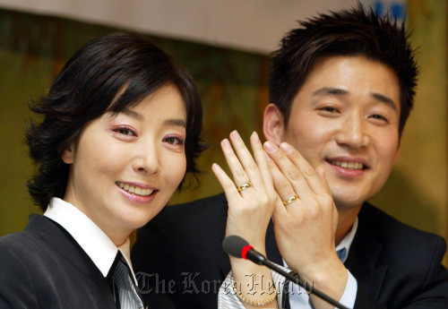 Kim Bo-yeon and Jeon No-min (Yonhap News)