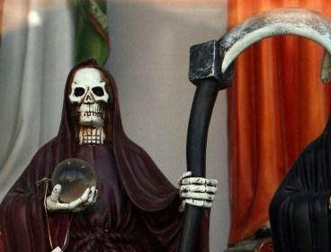 Figurine of Santa Muerte. (MCT image)