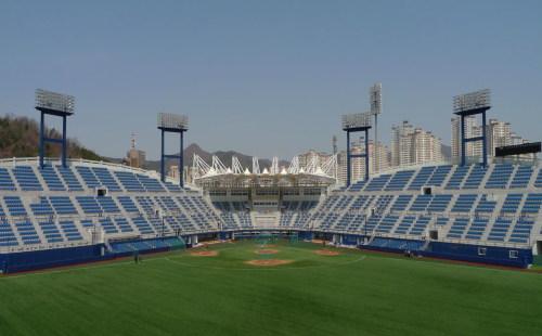 The NC Dinos' newly renovated baseball stadium in Masan, South Gyeongsang Province. (NC Dinos)