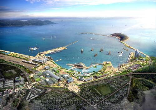 A bird's eye view of the Yeosu Expo site