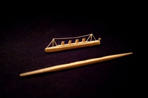 The Titanic was created from a single toothpick by San Francisco artist Steven J. Backman